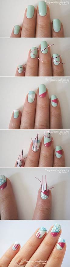 paint me chic nail art designs using scotch tape