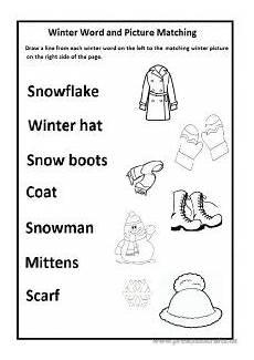 winter matching worksheets for preschoolers 20060 winter worksheet for preschool and kindergarten free printable preschool and kindergarten