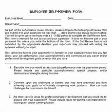 sle employee self evaluation form 16 free documents in word pdf