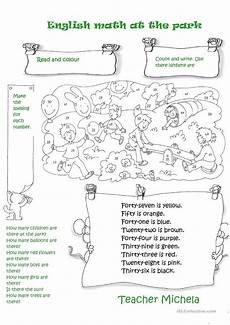 esl subtraction worksheets 10066 math at the park worksheet free esl printable worksheets made by teachers