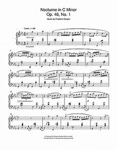 nocturne in c minor op 48 no 1 sheet music by frederic chopin piano 47928