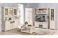 wohnzimmer set amelie landhausstil in creme weiss 7 teilig