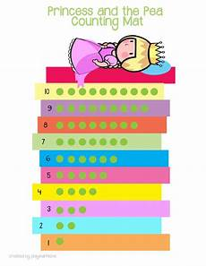 tale preschool lesson plans 15058 princess and the pea counting mat printable math activity for preschoolers and toddlers