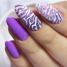 cute and wild zebra print nails to try