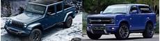 2020 ford bronco 2018 2020 ford bronco vs 2018 jeep wrangler