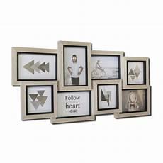 cadre multivues original en bois pour 9 photos 10x15cm 13x18