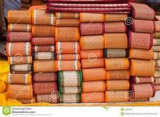 le stuoie stuoie della tessile di telaio a mano fotografia stock