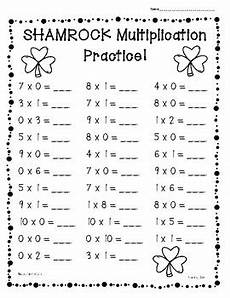 s day worksheets 20467 shamrock st s day multiplication practice worksheets 0 s 10 s