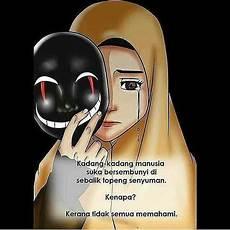 Gambar Kartun Muslimah Sedih Dan Menangis Imej