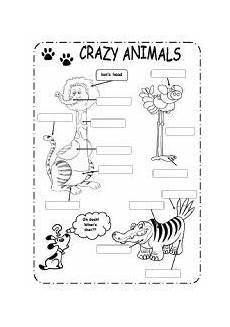 animal parts worksheets esl 14296 pin on educaci 243 n