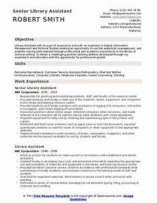 library assistant resume sles qwikresume