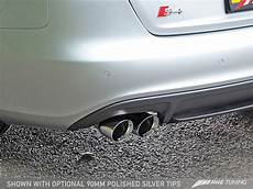 awe track edition exhaust for audi b8 s4 3 0t chrome silver tips 90mm
