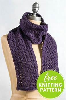 Strickmuster Schal Lochmuster - one skein project and easy lace scarf free