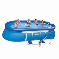 intex 28192 piscine hors sol oval frame 549x305x107
