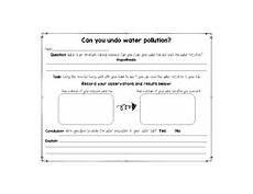 water pollution worksheet teachers pay teachers
