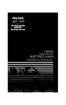 free service manuals online 1998 chevrolet astro on board diagnostic system 1993 chevrolet astro manuals