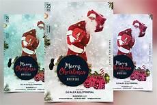 merry christmas 2017 psd flyer creative photoshop templates creative market