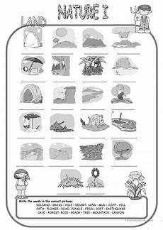 nature elements worksheets 15116 nature elements land matching esl worksheets for distance learning and physical