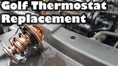 how to replace a thermostat on a volkswagen golf 1 9 tdi