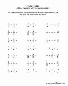 fraction worksheets identifying numerator and denominator 4041 4th grade adding fractions with the same denominator worksheets adding