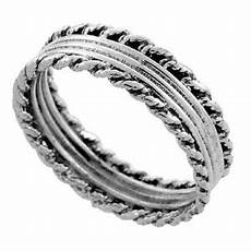 sterling silver bali style rope wedding band ring ebay