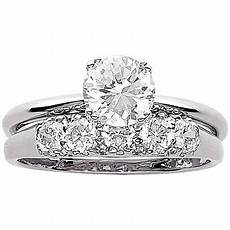 3 4 carat t g w cz wedding ring in sterling silver