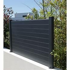 panneau alu cloture lame de cl 244 ture aluminium klos up naterial gris zingu 233 h