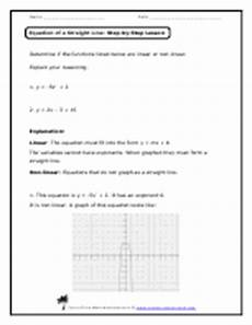 equation of a straight line worksheets