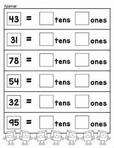 place value worksheets with tens and ones 5333 tens and ones place value worksheets by from the pond tpt