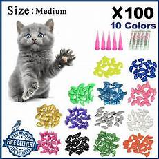 100 pcs cat nail caps tips pet kitty soft claws covers