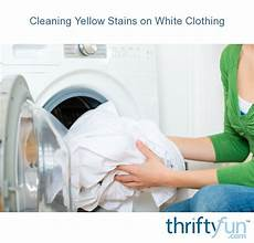 cleaning yellow stains white clothing thriftyfun