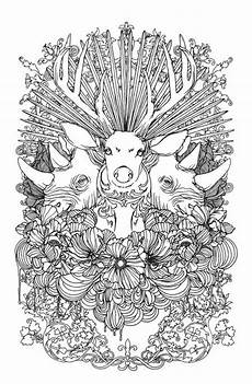 stunning animals coloring page favecrafts