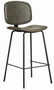 chaise haute moderne chaise haute moderne similicuir gris et pieds m 233 tal noir