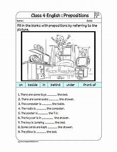 preposition of time worksheets for grade 2 3521 prepositions fill in the blanks