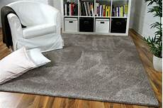 teppich taupe hochflor velours teppich mona taupe ebay