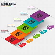 infographics business stair step success vector design template can be used for workflow vector