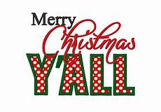 merry christmas y all applique instant download machine