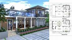sketchup house plan sketchup drawing villa design size 13 3mx9m 2bedroom