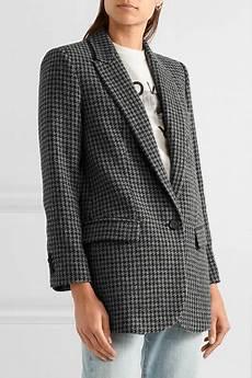 marant 201 toile houndstooth wool blend blazer