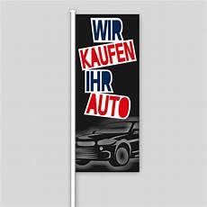 wir kaufen dein auto de bewertungen fahne quot wir kaufen ihr auto quot design schwarz