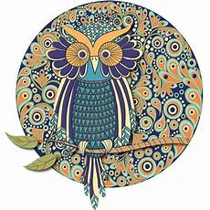 wise owl mandala colorme decal