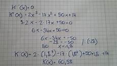 habe ich das betriebsoptimum richtig berechnet mathelounge