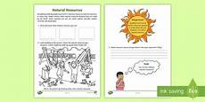 identifying natural resources science activity sheet acssu032
