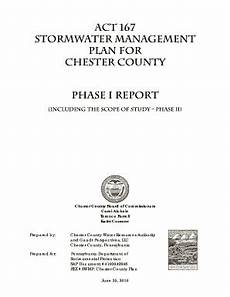 fillable online act 167 stormwater management plan for chester county fax email print pdffiller