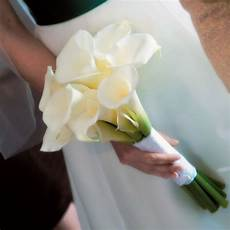 white calla lily wedding bouquets showing simple and