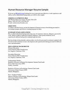 simple hr cv objective human resources resume objectives
