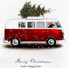 Card Vw Bulli Weihnachten Zeichnung