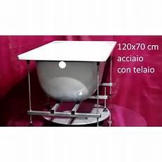 vasca acciaio smaltato smavit vasca 120x70 cm con telaio in acciaio smatato bianco