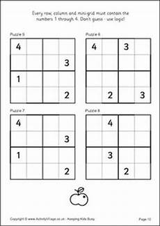 free kid sudoku puzzle level 2 page 4 kiddo activities pinterest sudoku puzzles 4x4 and kid