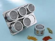portaspezie magnetico kaufgut 072517 portaspezie magnetico inox con 6